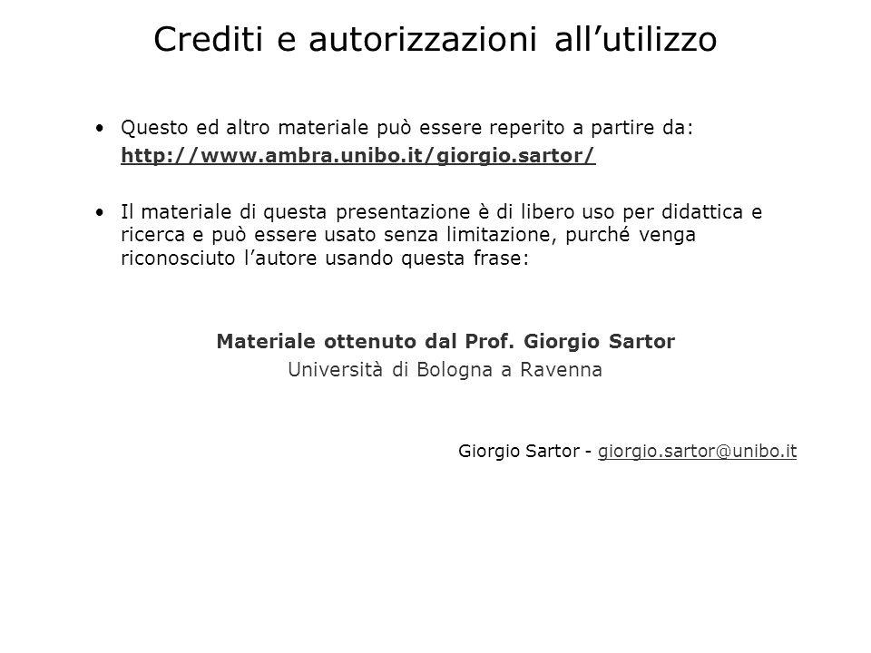 Crediti e autorizzazioni all'utilizzo