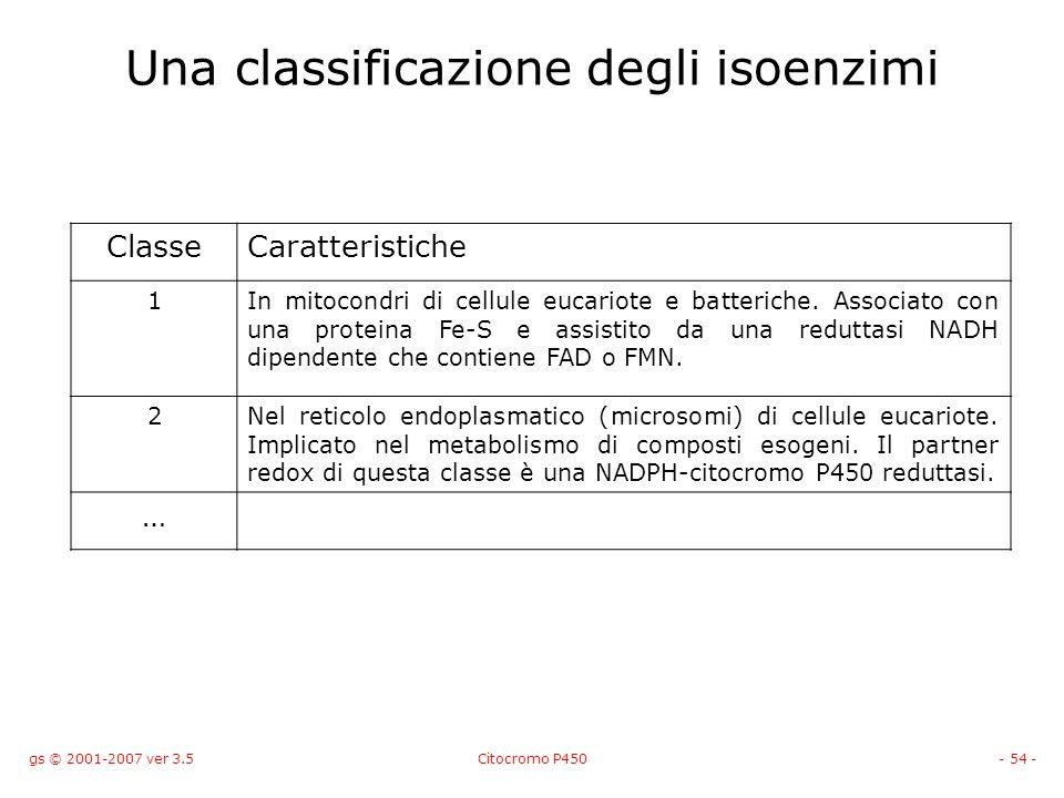 Una classificazione degli isoenzimi
