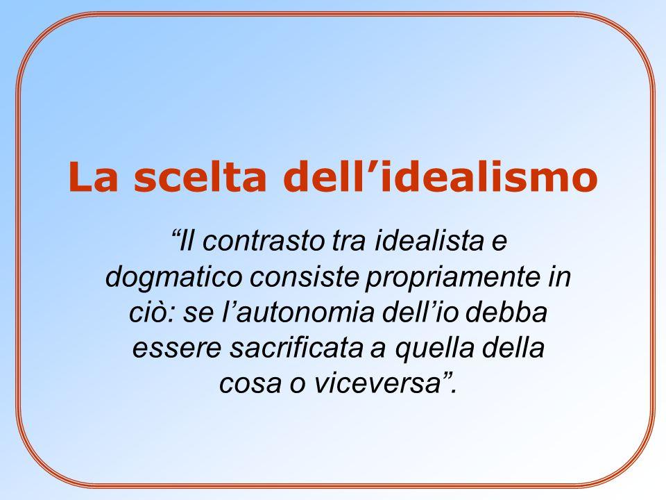 La scelta dell'idealismo