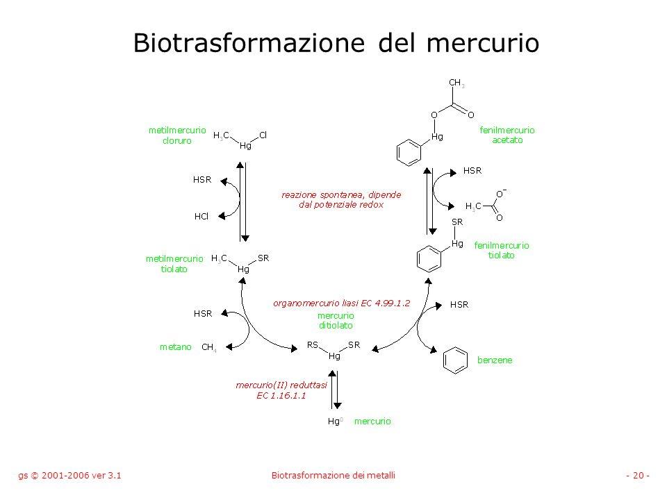 Biotrasformazione del mercurio