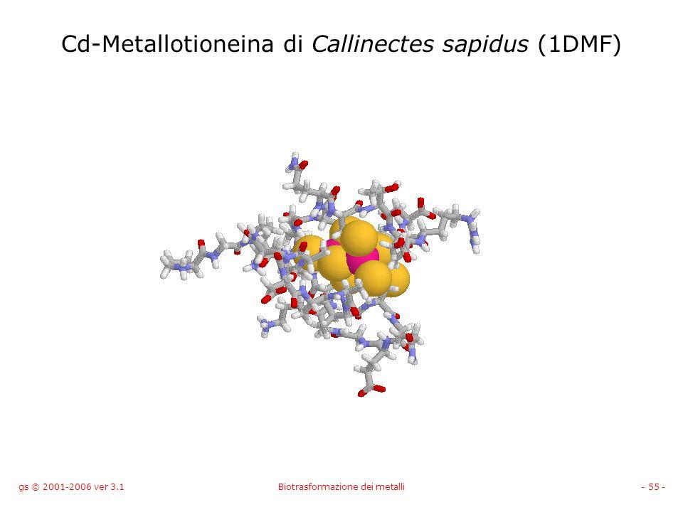 Cd-Metallotioneina di Callinectes sapidus (1DMF)