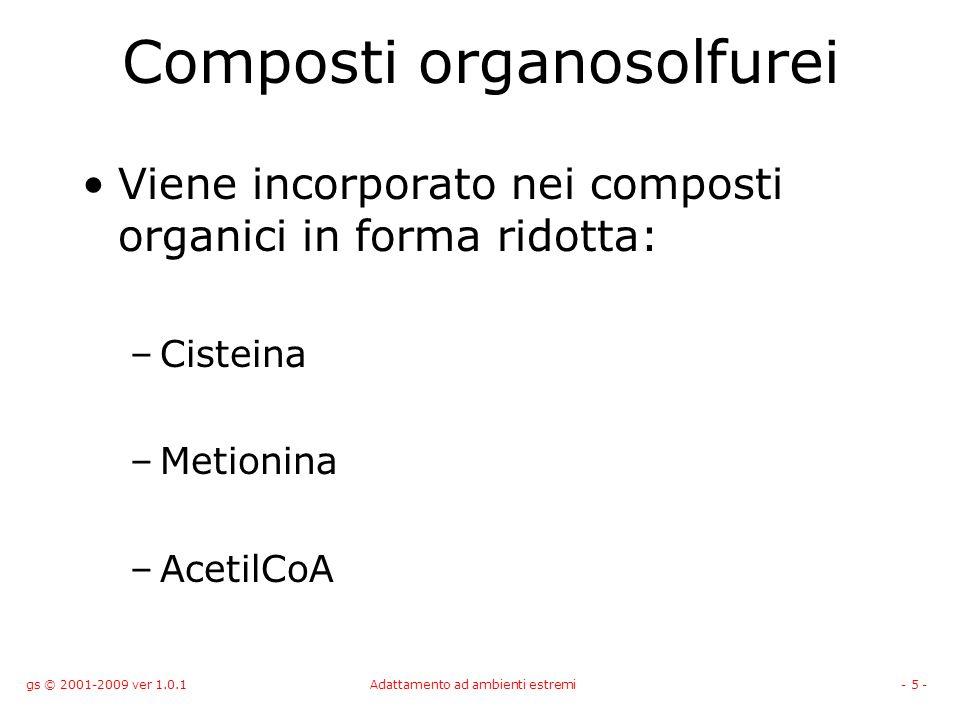 Composti organosolfurei