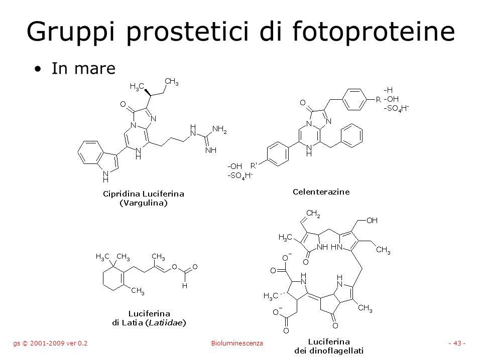 Gruppi prostetici di fotoproteine