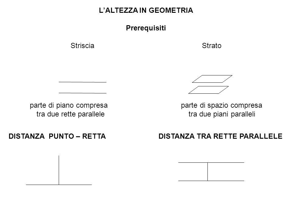 L'ALTEZZA IN GEOMETRIA