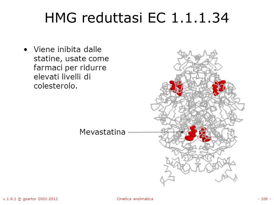 HMG reduttasi EC 1.1.1.34 Viene inibita dalle statine, usate come farmaci per ridurre elevati livelli di colesterolo.