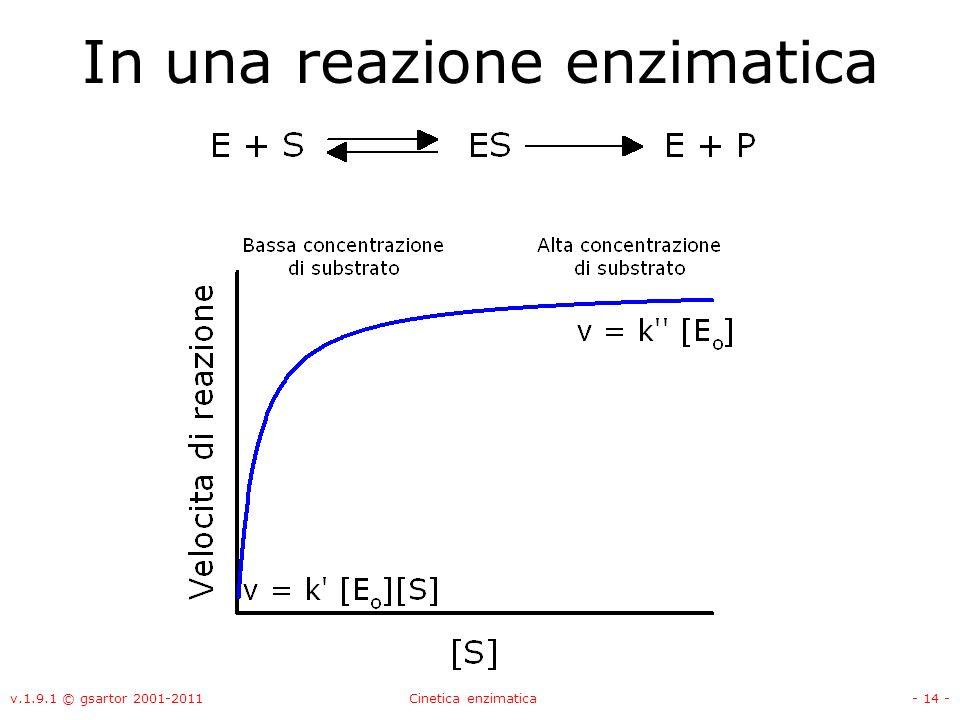 In una reazione enzimatica