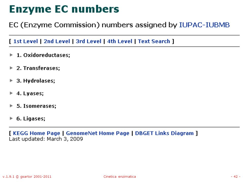 v.1.9.1 © gsartor 2001-2011 Cinetica enzimatica