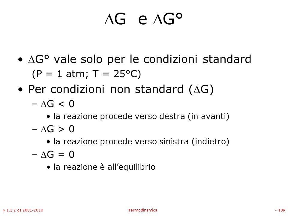 G e G° G° vale solo per le condizioni standard
