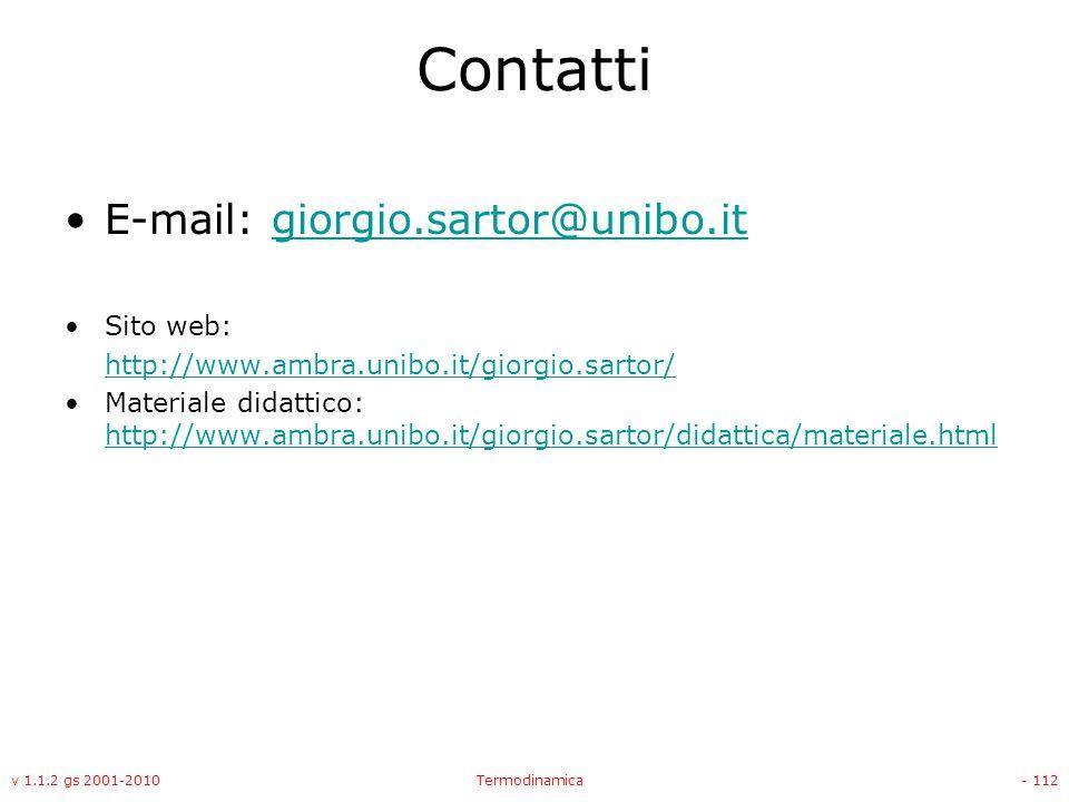 Contatti E-mail: giorgio.sartor@unibo.it Sito web: