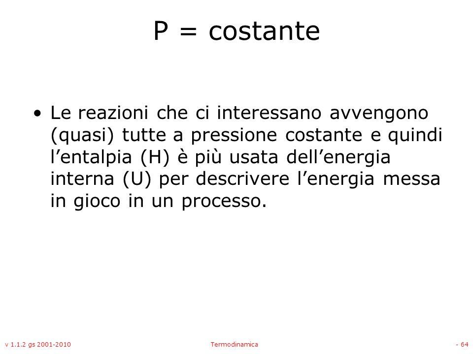 P = costante