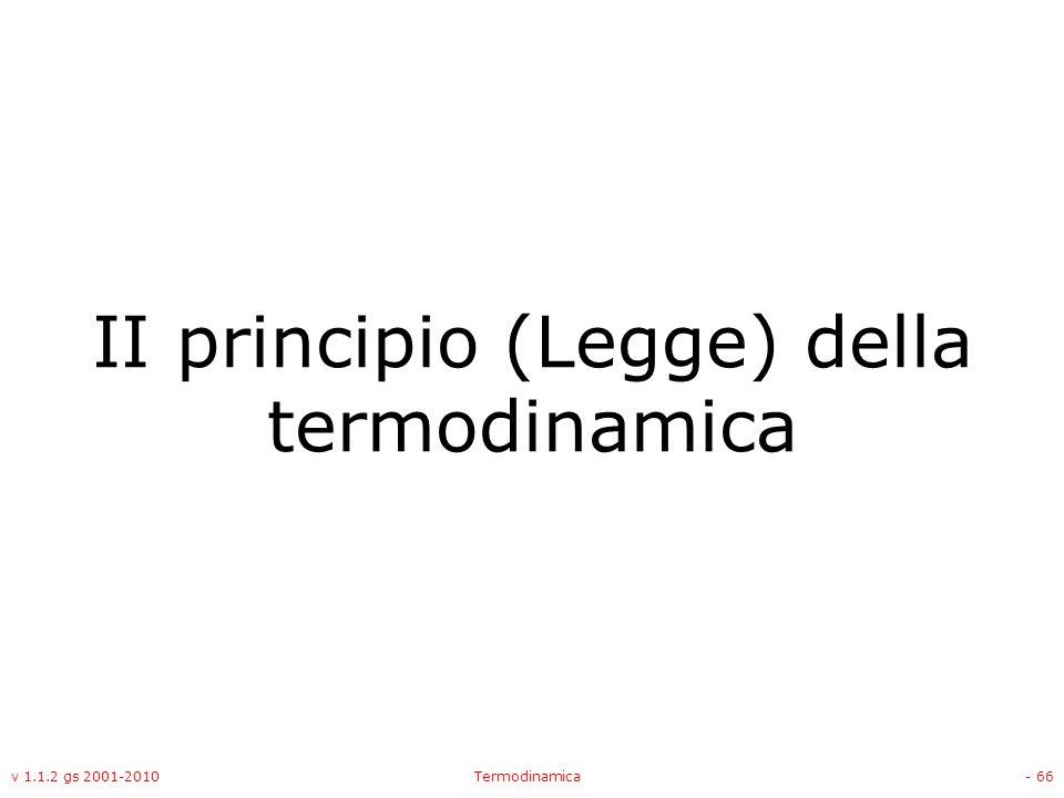 II principio (Legge) della termodinamica