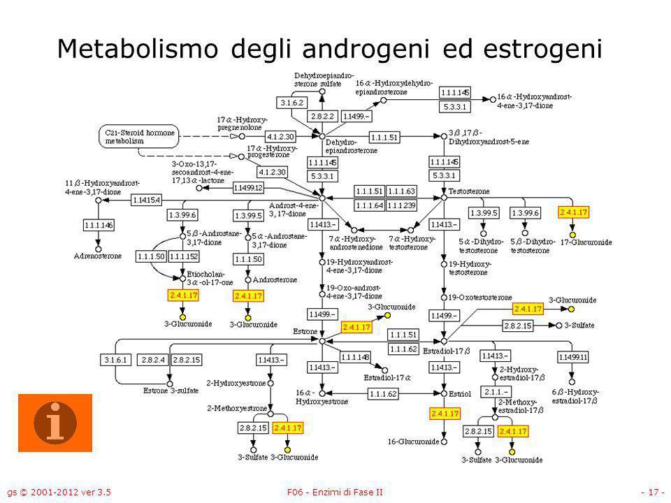 Metabolismo degli androgeni ed estrogeni