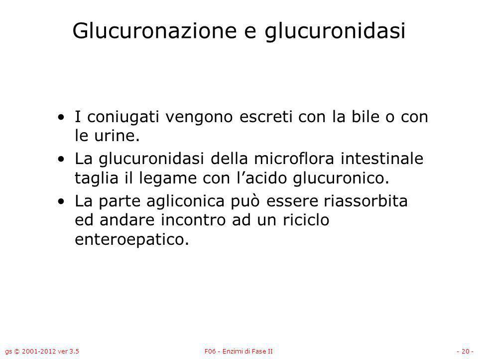 Glucuronazione e glucuronidasi