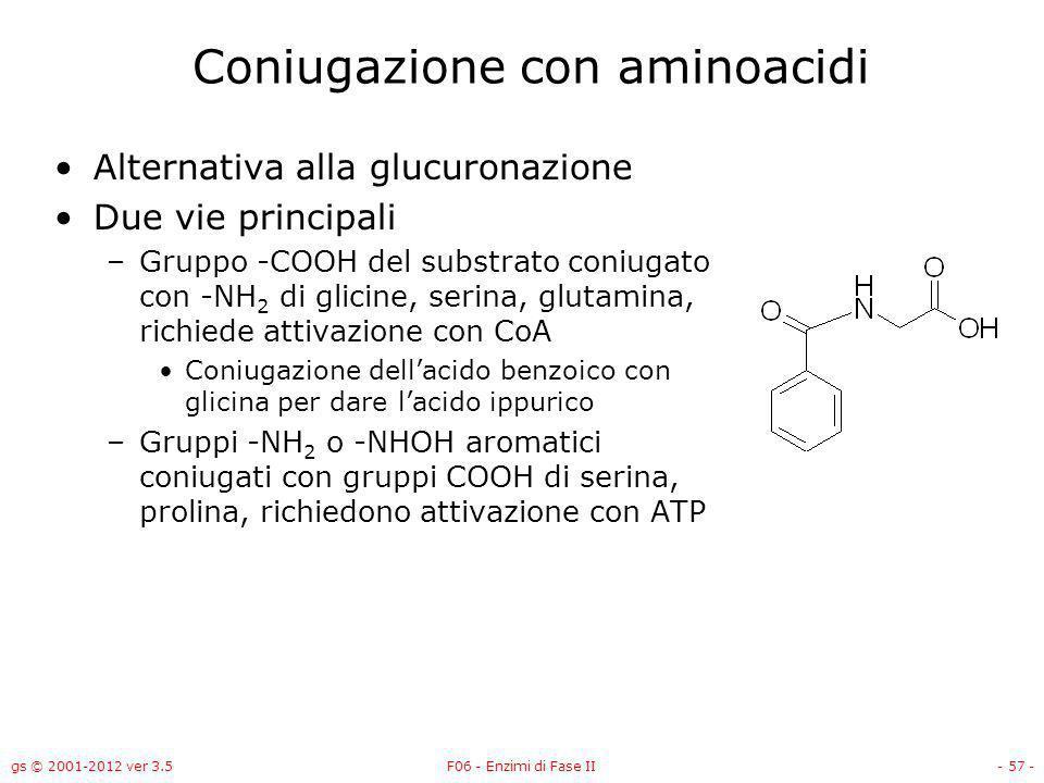 Coniugazione con aminoacidi