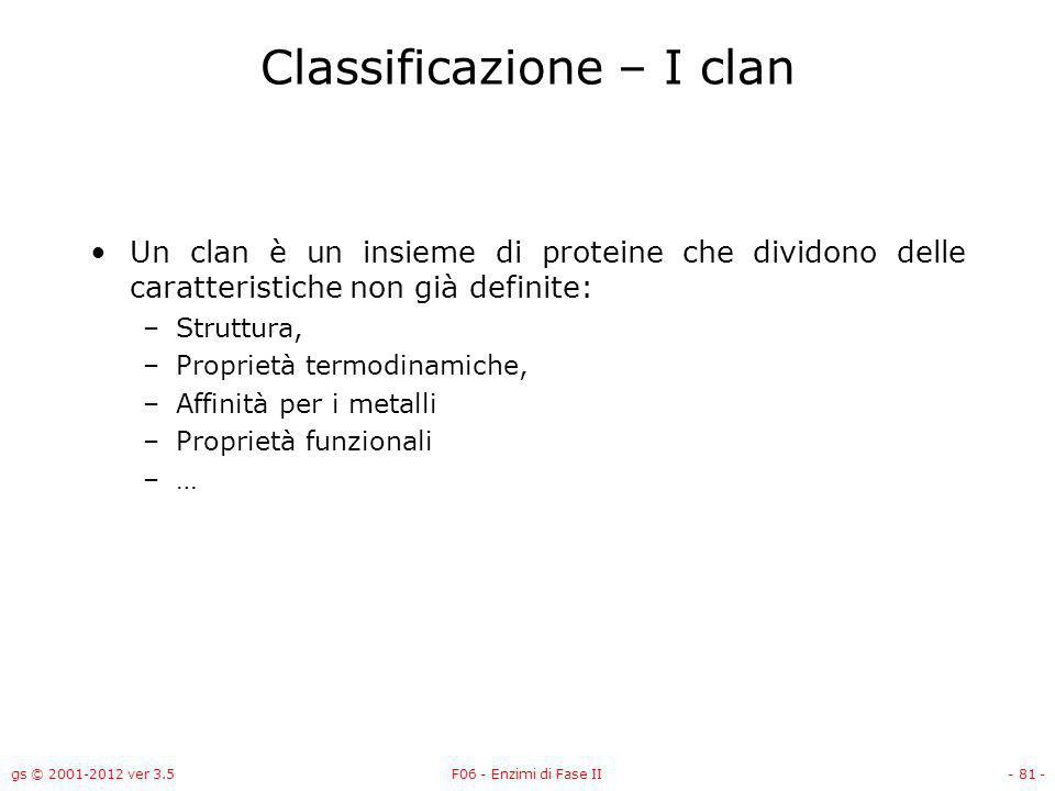 Classificazione – I clan