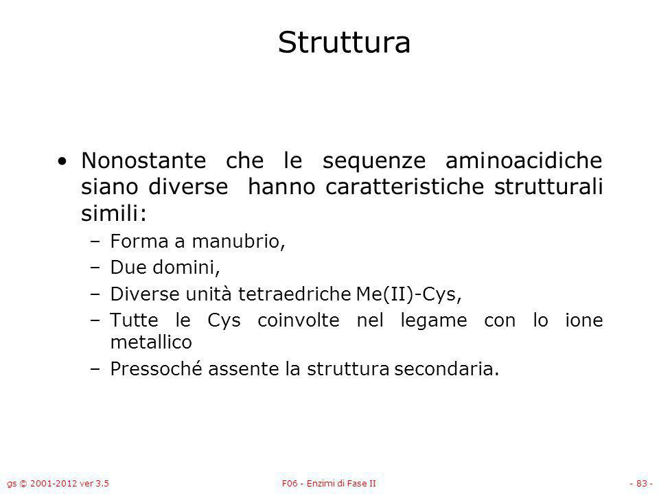 Struttura Nonostante che le sequenze aminoacidiche siano diverse hanno caratteristiche strutturali simili: