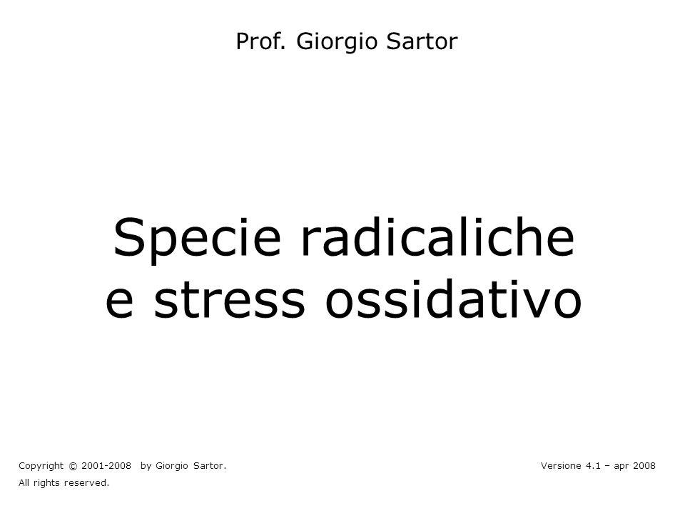 Specie radicaliche e stress ossidativo