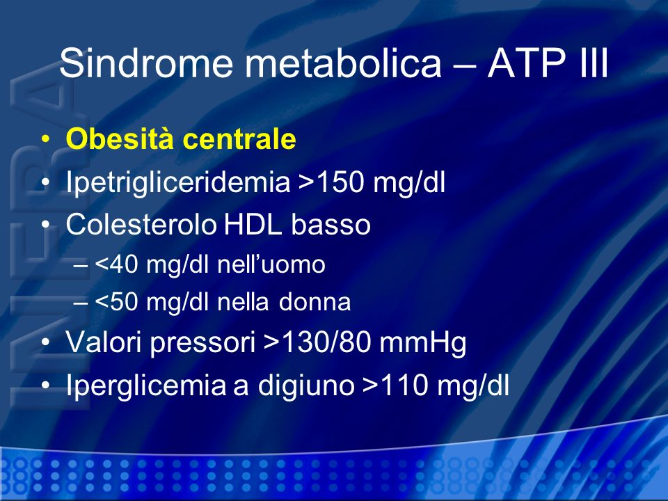 Sindrome metabolica – ATP III