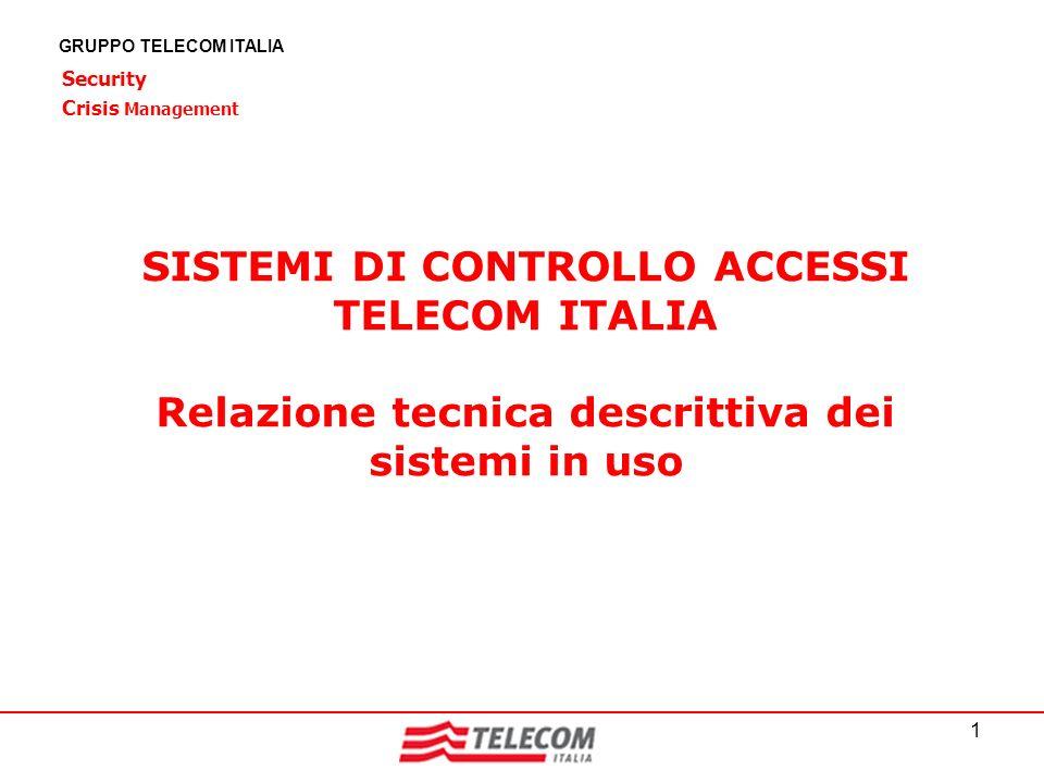SISTEMI DI CONTROLLO ACCESSI TELECOM ITALIA
