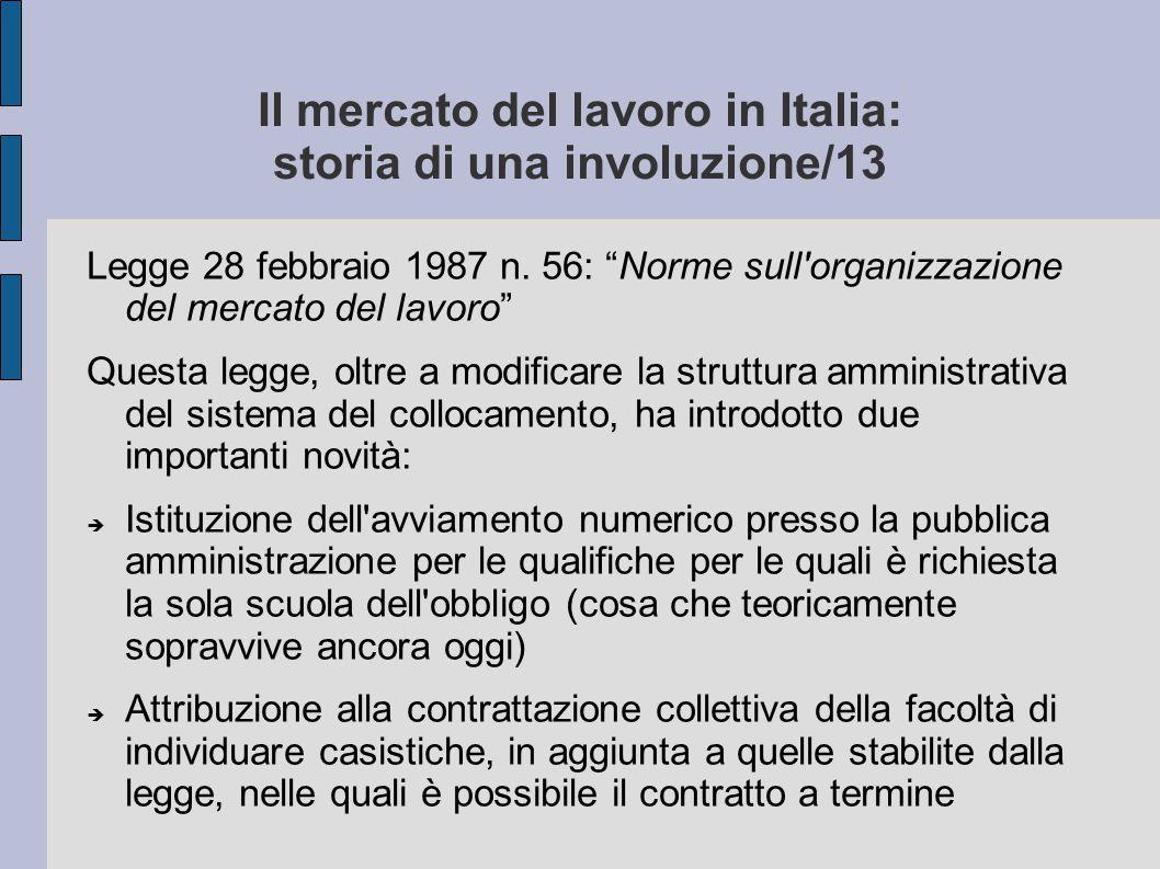 Il mercato del lavoro in Italia: storia di una involuzione/13