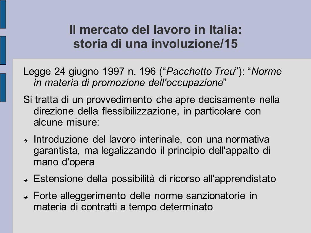 Il mercato del lavoro in Italia: storia di una involuzione/15