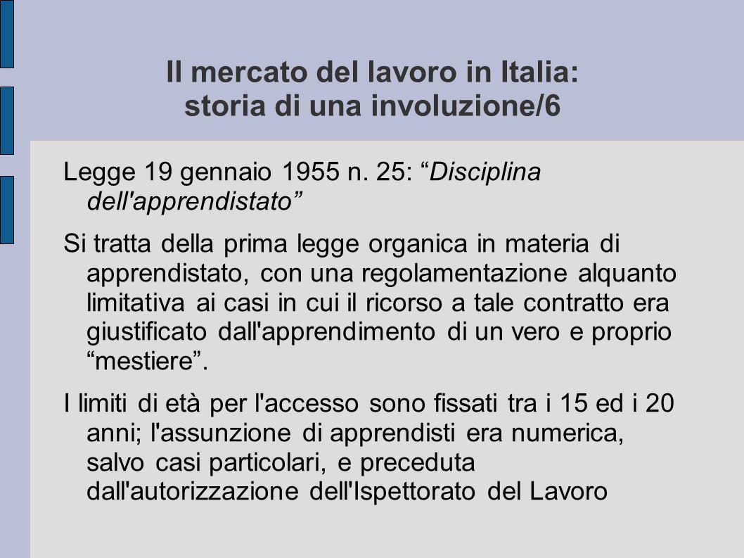 Il mercato del lavoro in Italia: storia di una involuzione/6
