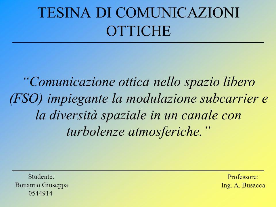 TESINA DI COMUNICAZIONI OTTICHE