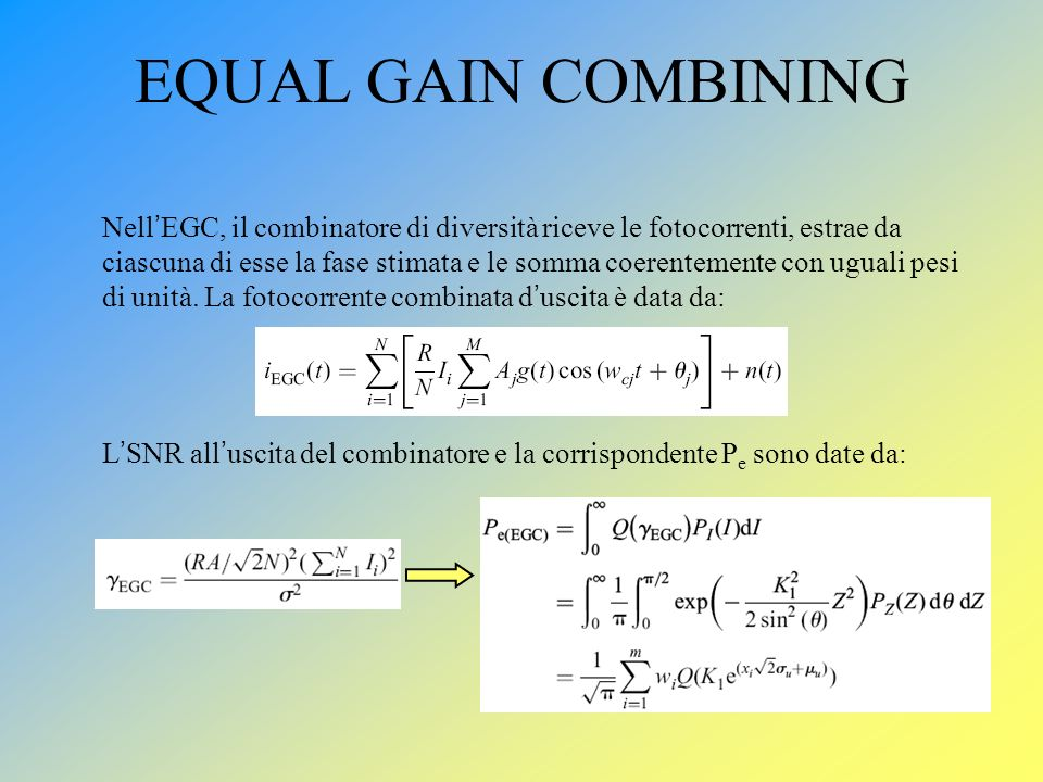 EQUAL GAIN COMBINING
