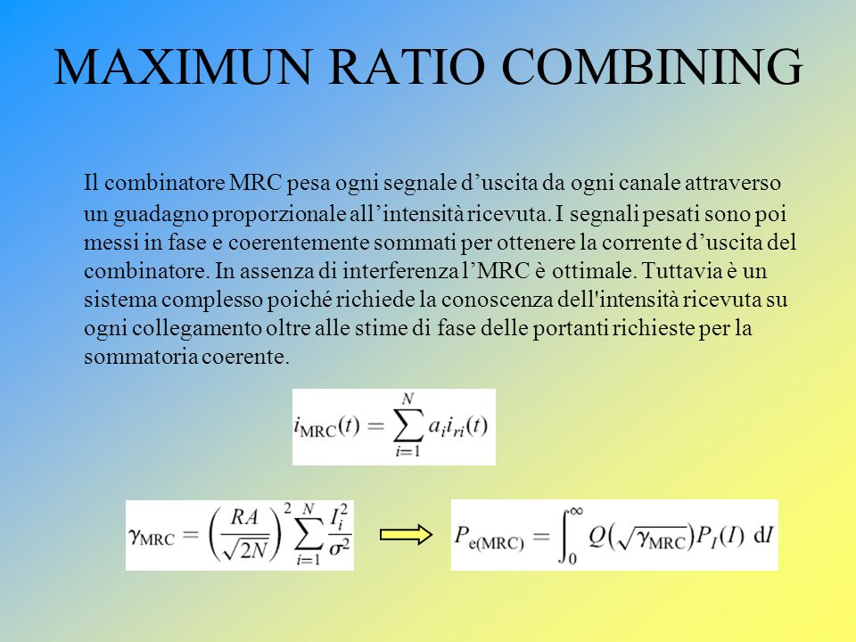 MAXIMUN RATIO COMBINING