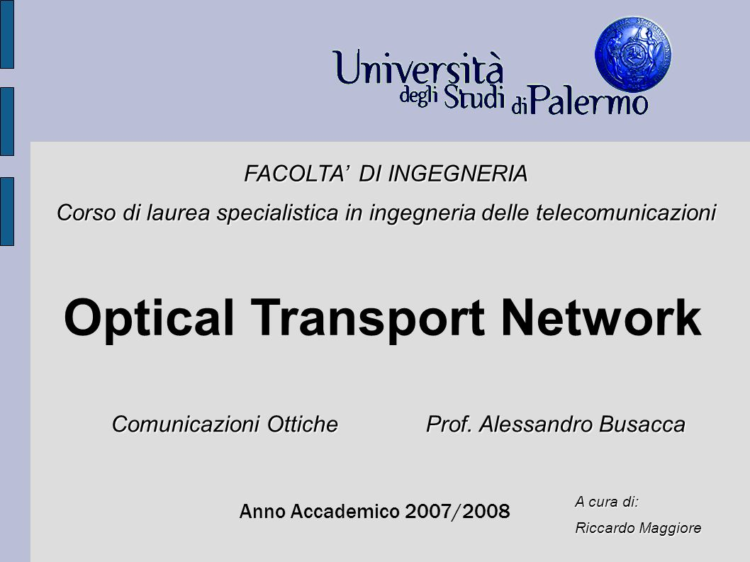Optical Transport Network