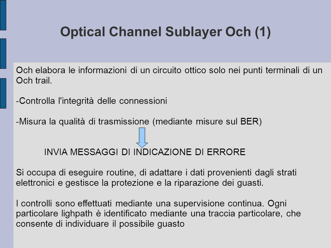 Optical Channel Sublayer Och (1)