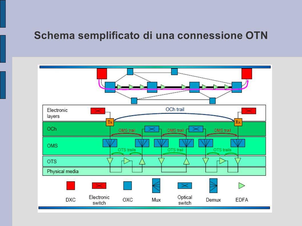 Schema semplificato di una connessione OTN
