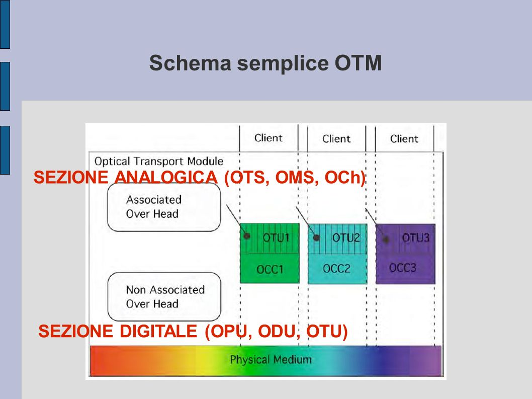 Schema semplice OTM SEZIONE ANALOGICA (OTS, OMS, OCh)