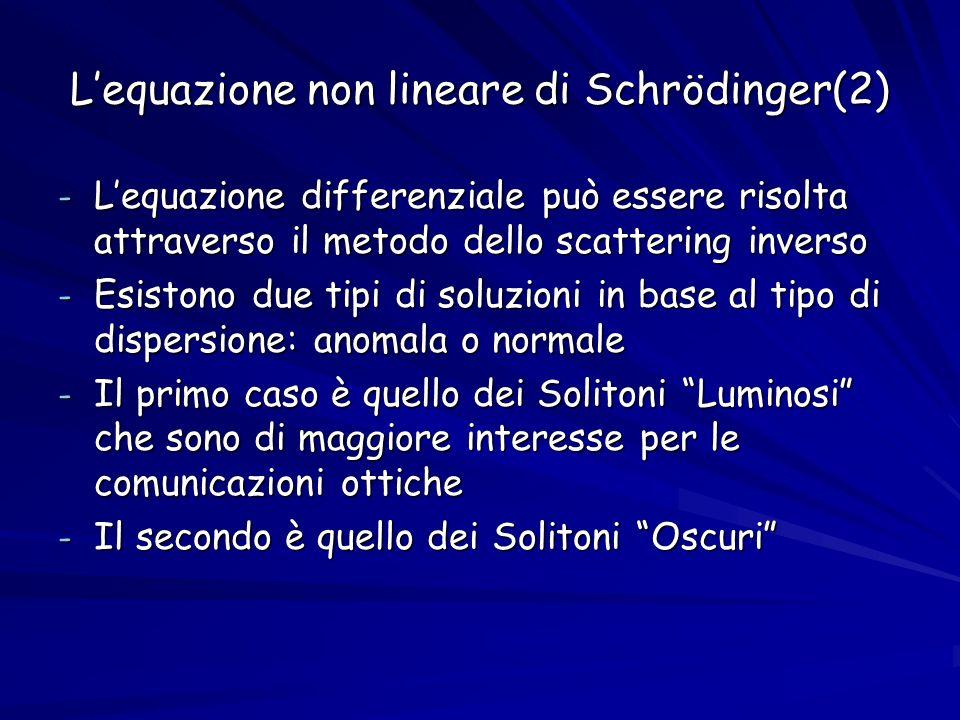 L'equazione non lineare di Schrödinger(2)