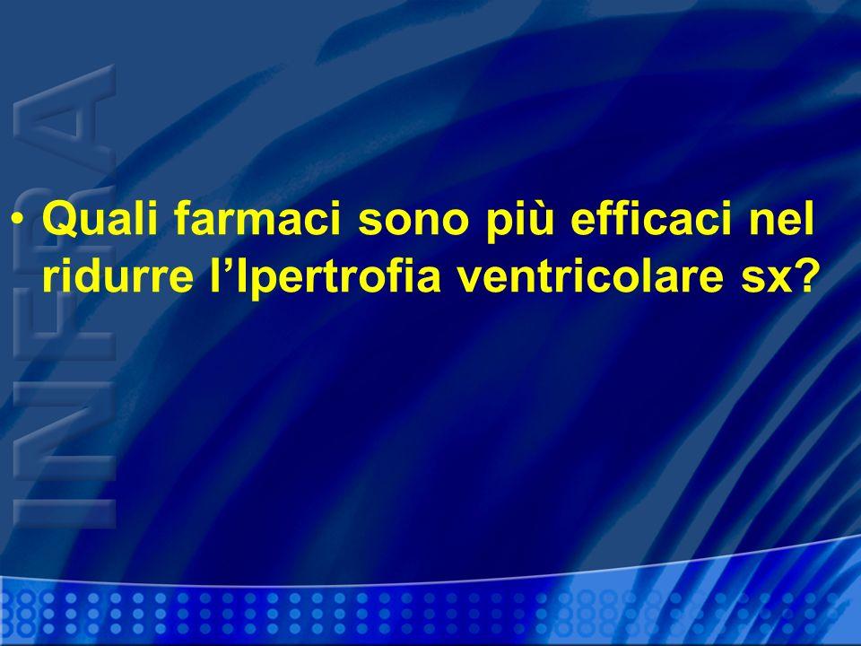 Quali farmaci sono più efficaci nel ridurre l'Ipertrofia ventricolare sx