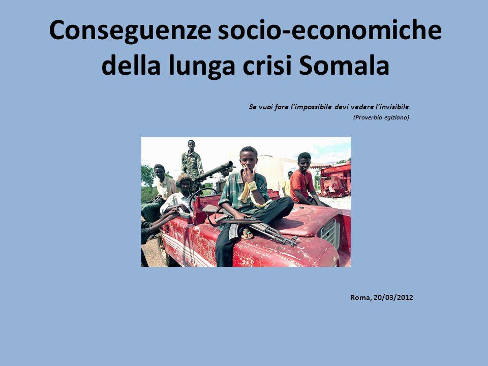 Conseguenze socio-economiche della lunga crisi Somala