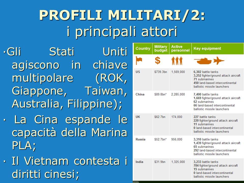PROFILI MILITARI/2: i principali attori