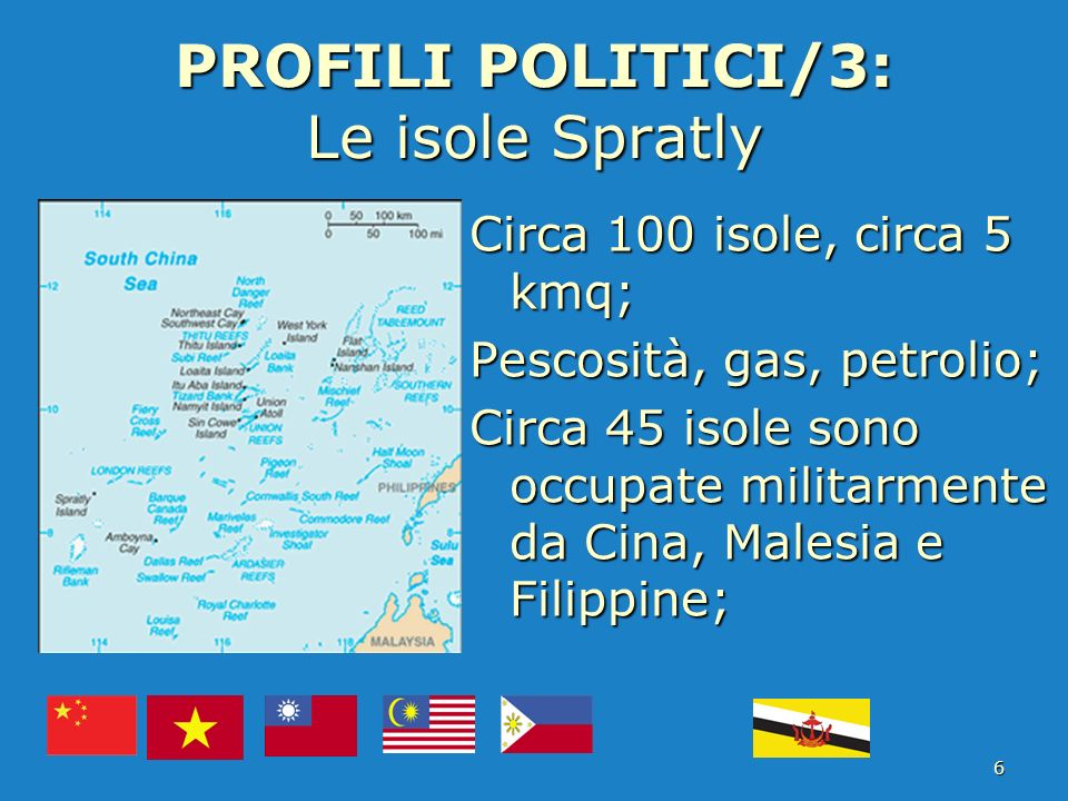 PROFILI POLITICI/3: Le isole Spratly