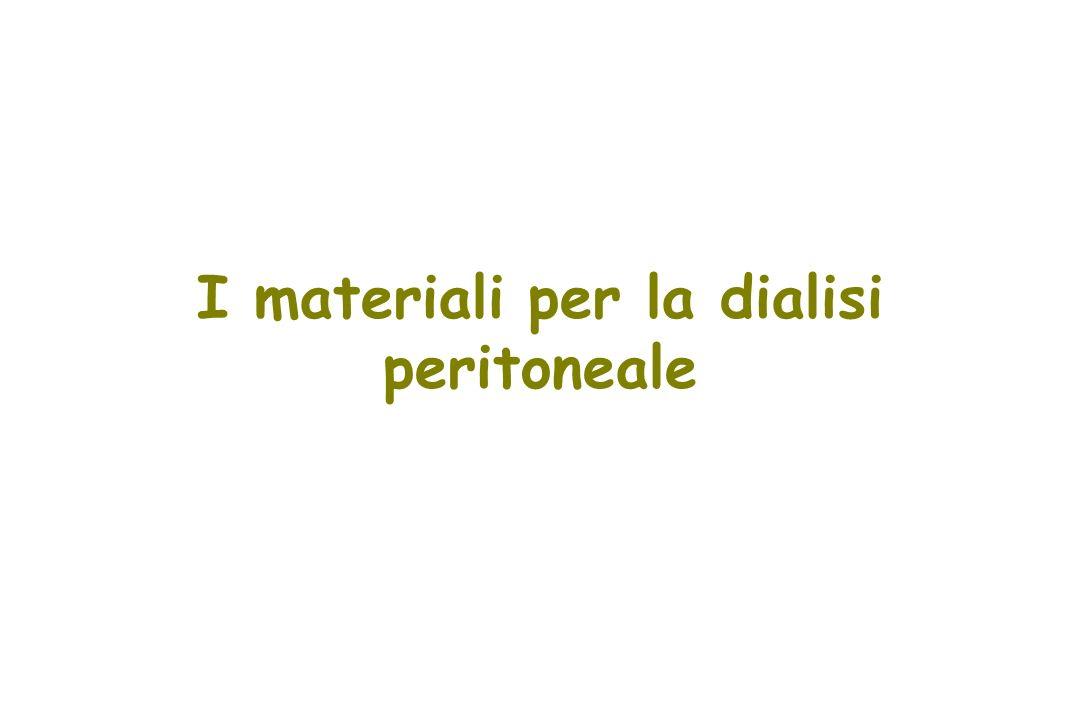 I materiali per la dialisi peritoneale