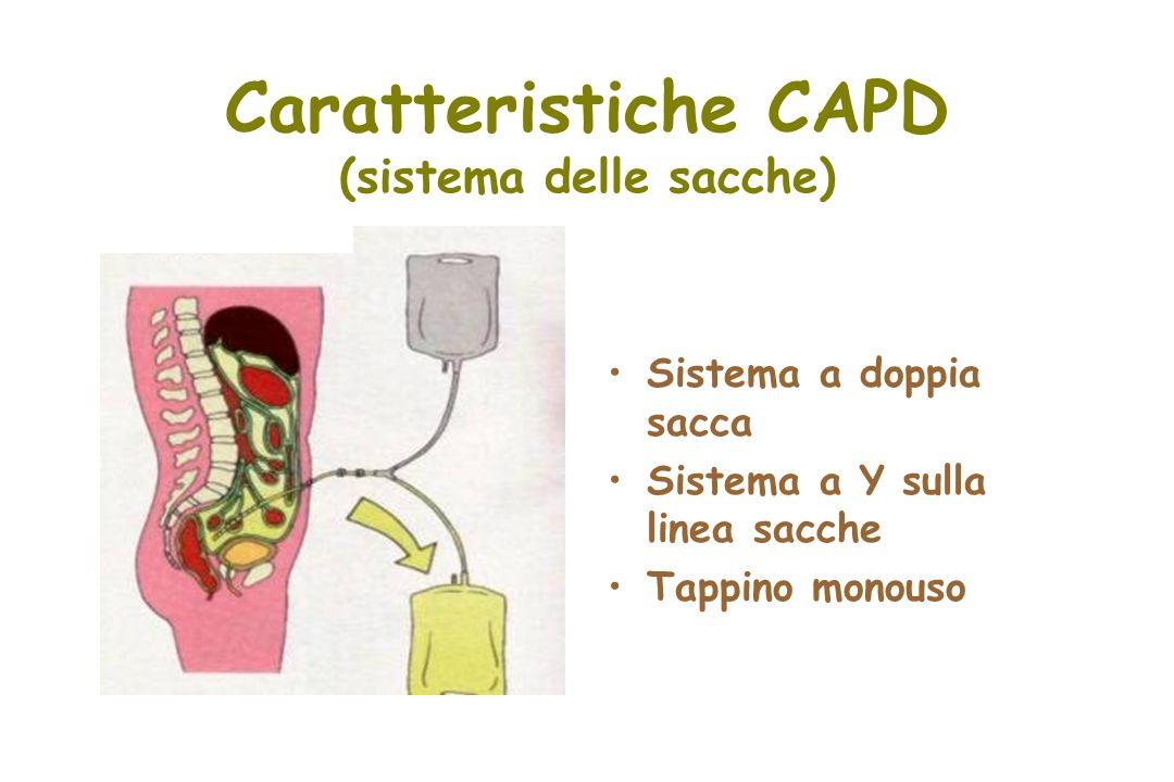 Caratteristiche CAPD (sistema delle sacche)
