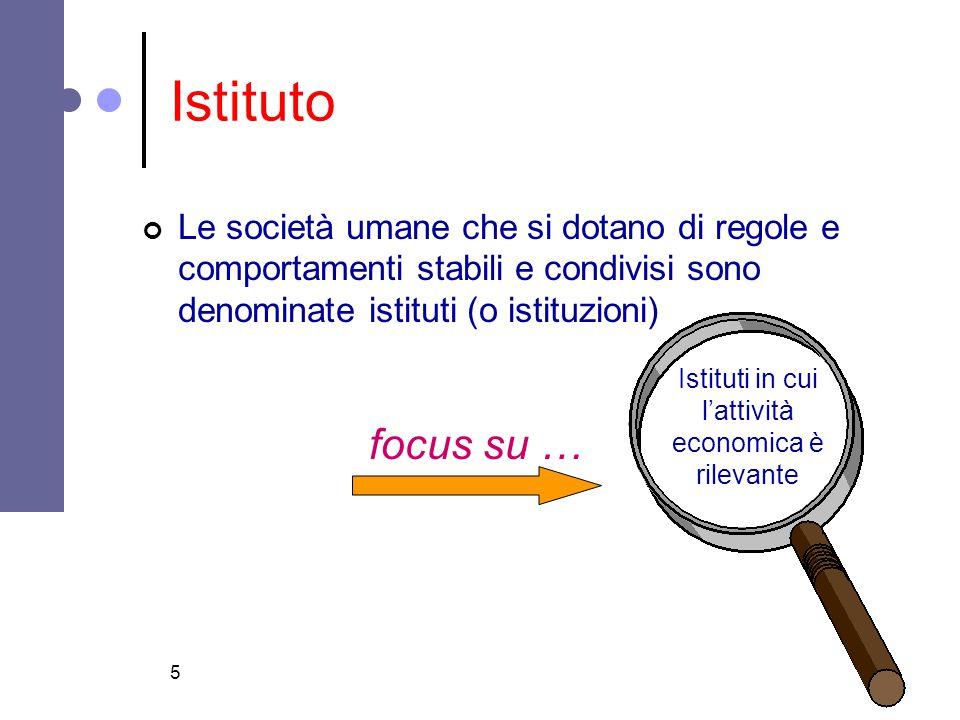 Istituti in cui l'attività economica è rilevante