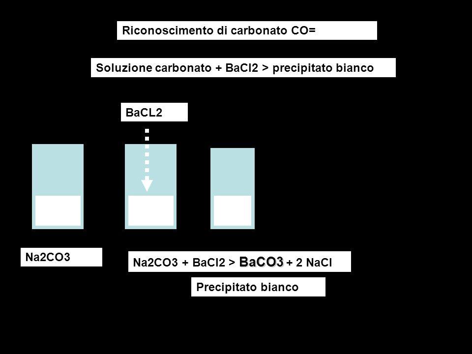Riconoscimento di carbonato CO=