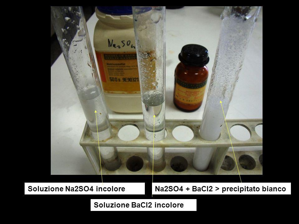 Soluzione Na2SO4 incolore
