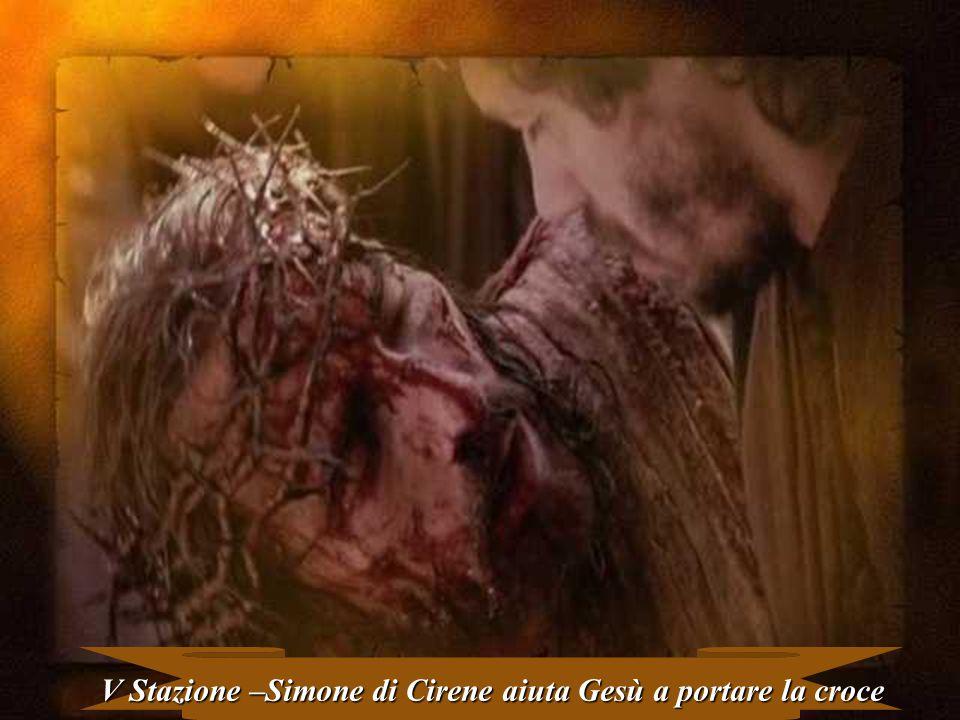 V Stazione –Simone di Cirene aiuta Gesù a portare la croce