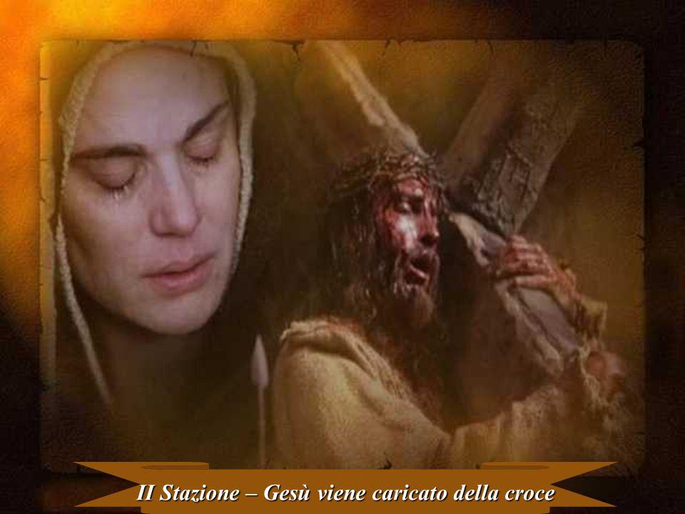 II Stazione – Gesù viene caricato della croce