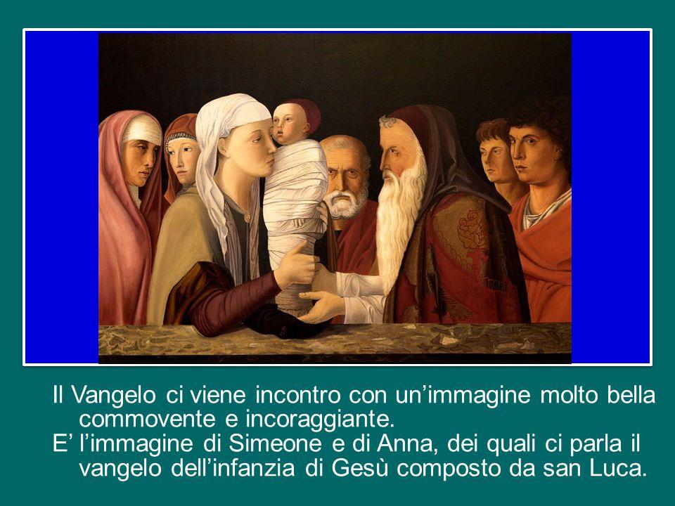 Il Vangelo ci viene incontro con un'immagine molto bella commovente e incoraggiante.