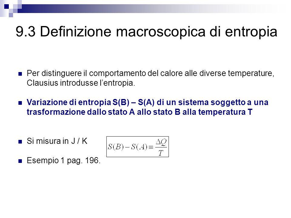 9.3 Definizione macroscopica di entropia