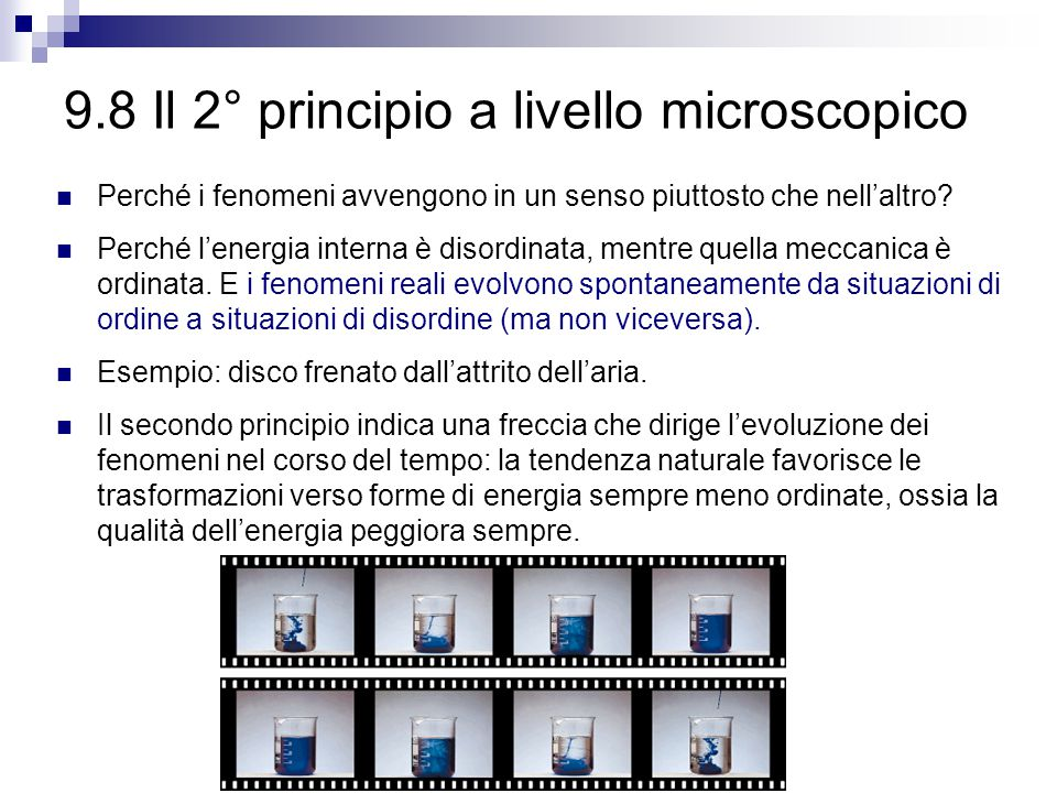 9.8 Il 2° principio a livello microscopico