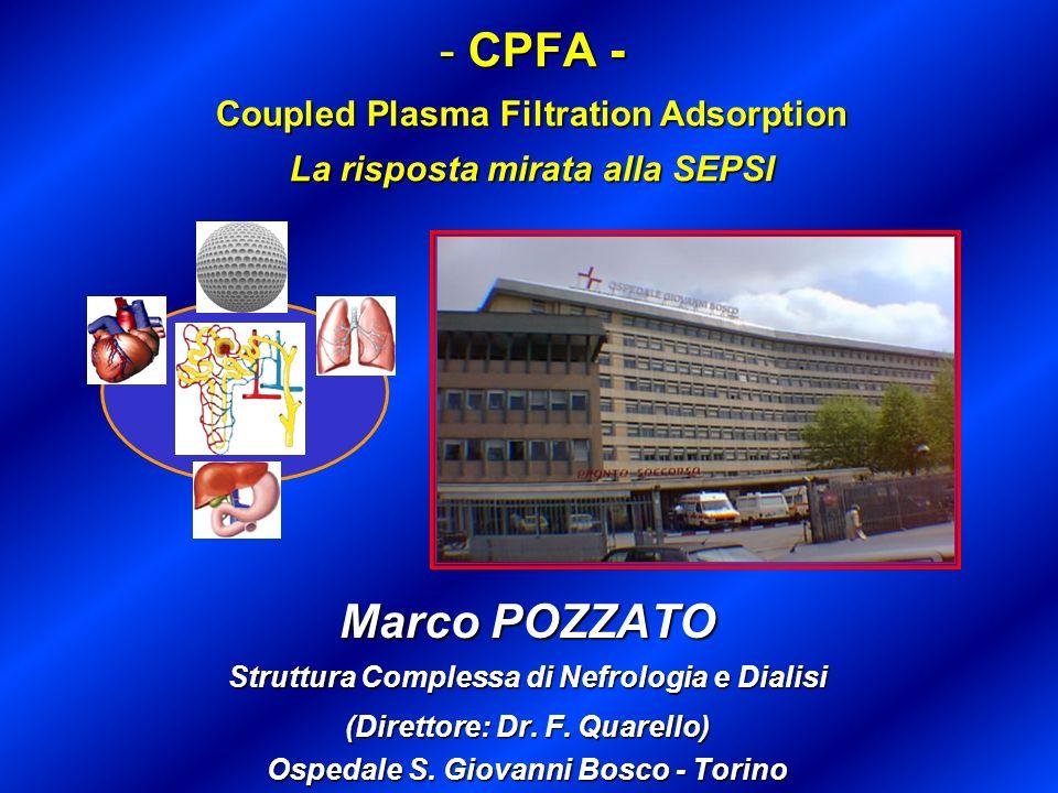 CPFA - Coupled Plasma Filtration Adsorption La risposta mirata alla SEPSI