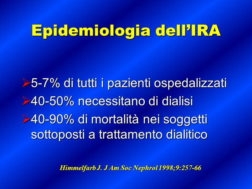 Epidemiologia dell'IRA
